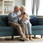 grandparents on phone